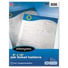 Top-Loading Job Ticket Holder, Nonglare Finish, 9 X 12, Clear/frosted, 10/pack