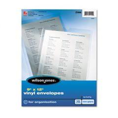 Top-Loading Envelope Pouches, Nonglare Finish, 9 X 12, 10/pack