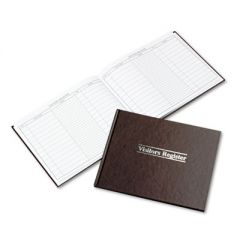 VISITOR REGISTER BOOK, RED HARDCOVER, 112 PAGES, 1,500 ENTRIES, 8 1/2 X 10 1/2