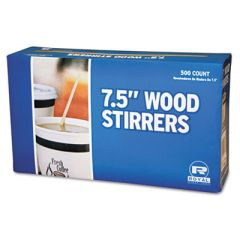 "Wood Coffee Stirrers, 7 1/2"" Long, Woodgrain, 500 Stirrers/box, 500/box"