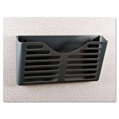 Recycled Plastic Cubicle Single File Pocket, Black