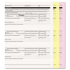 DIGITAL CARBONLESS PAPER, 3-PART, 8.5 X 11, WHITE/CANARY/PINK, 835/CARTON