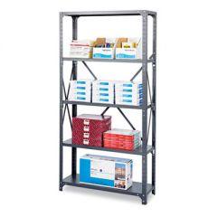 Commercial Steel Shelving Unit, Six-Shelf, 36w X 18d X 75h, Dark Gray