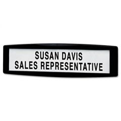 Plastic Partition Additions Nameplate, 9 X 2 1/2, Graphite