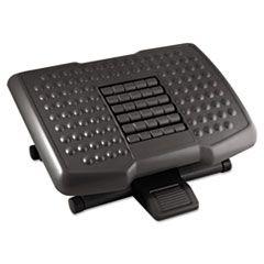 Premium Adjustable Footrest With Rollers, Plastic, 18w X 13d X 4h, Black