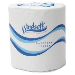 BATH TISSUE, SEPTIC SAFE, 2-PLY, WHITE, 4.5 X 3, 500 SHEETS/ROLL, 48 ROLLS/CARTON