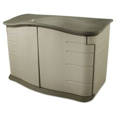 HORIZONTAL OUTDOOR STORAGE SHED, 55 X 28 X 36, 20 CU FT, OLIVE GREEN/SANDSTONE
