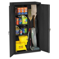 Janitorial Cabinet, 36w X 18d X 64h, Black