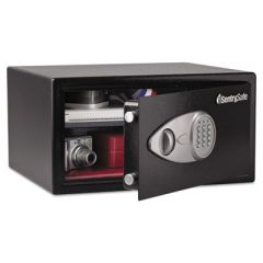 ELECTRONIC LOCK SECURITY SAFE, 1 CU FT, 16.94W X 14.56D X 8.88H, BLACK