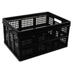 "FILING/STORAGE TOTE, LETTER FILES, 20.13"" X 14.63"" X 10.75"", BLACK"