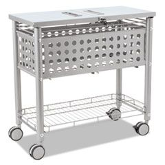 SMARTWORX FILE CART, ONE-SHELF, 29.13W X 14D X 28.38H, MATTE GRAY