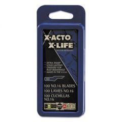 No. 16 Bulk Pack Blades For X-Acto Knives, 100/box