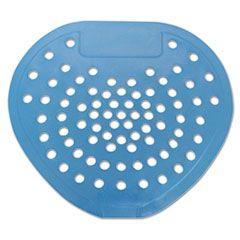 """Health Gards Vinyl Urinal Screen, 7 3/4""""w X 6 7/8""""h, Blue, Mint, Dozen"""