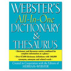 All-In-One Dictionary/thesaurus, Hardcover, 768 Pages