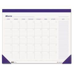 Nondated Desk Pad Calendar, 22 X 17, Blue