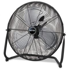"High Velocity Fan, Three-Speed, Black, 24 1/2""w X 8 5/8""h"