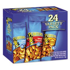VARIETY PACK PEANUTS AND CASHEWS, 1.75 OZ/1.5 OZ BAG, 24/BOX