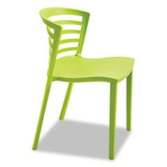 ENTOURAGE STACK CHAIRS, GRASS SEAT/GRASS BACK, GRASS BASE, 4/CARTON