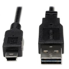 UNIVERSAL REVERSIBLE USB 2.0 CABLE, REVERSIBLE A TO 5-PIN MINI B (M/M), 6 FT.