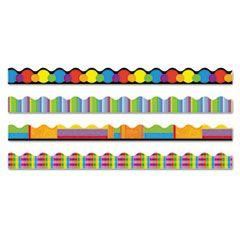 """Terrific Trimmers Border, 2 1/4 X 39"""" Panels, Color Collage Designs, 48/set"""