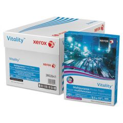 VITALITY MULTIPURPOSE PRINT PAPER, 92 BRIGHT, 3-HOLE, 20LB, 8.5 X 11, 500 SHEETS/REAM, 10 REAMS/CARTON