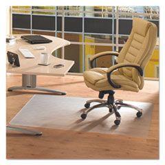 CLEARTEX ADVANTAGEMAT PHTHALATE FREE PVC CHAIR MAT FOR HARD FLOORS, 53 X 45, CLEAR