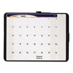 Tack & Write Monthly Calendar Board, 23 X 17, White Surface, Black Frame