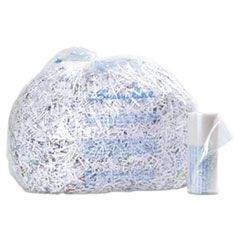 PLASTIC SHREDDER BAGS, 6-8 GAL CAPACITY, 100/BOX