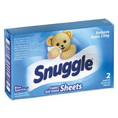 Vend-Design Fabric Softener Sheets, Blue Sparkle, 2 Sheets/box, 100 Boxes/carton