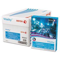 VITALITY MULTIPURPOSE PRINT PAPER, 92 BRIGHT, 20LB, 8.5 X 11, WHITE, 500/REAM