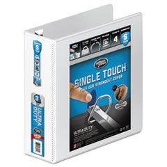 "ULTRA DUTY D-RING VIEW BINDER WITH EXTRA-DURABLE HINGE, 3 RINGS, 3"" CAPACITY, 11 X 8.5, WHITE"