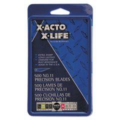 No. 11 Bulk Pack Blades For X-Acto Knives, 500/box