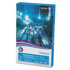 VITALITY MULTIPURPOSE PRINT PAPER, 92 BRIGHT, 20LB, 8.5 X 14, WHITE, 500/REAM