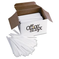 "Plastic Stir Sticks, 5"", Plastic, White, 1000/box"
