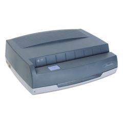 """50-Sheet 350md Electric Three-Hole Punch, 9/32"""" Holes, Gray"""
