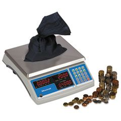 Electronic 60 Lb Coin & Parts Counting Scale, 11 1/2 X 8 3/4, Gray