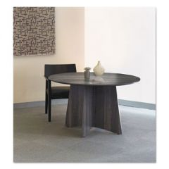 MEDINA LAMINATE SERIES ROUND CONFERENCE TABLE TOP, 48 DIA., GRAY STEEL
