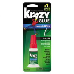 ALL PURPOSE BRUSH-ON KRAZY GLUE, 0.18 OZ, DRIES CLEAR