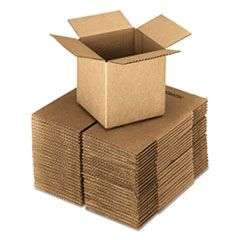 "CUBED FIXED-DEPTH SHIPPING BOXES, REGULAR SLOTTED CONTAINER (RSC), 24"" X 24"" X 24"", BROWN KRAFT, 10/BUNDLE"
