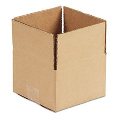 "FIXED-DEPTH SHIPPING BOXES, REGULAR SLOTTED CONTAINER (RSC), 6"" X 4"" X 4"", BROWN KRAFT, 25/BUNDLE"