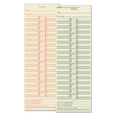 Time Card For Cincinnati/lathem/simplex/acroprint, Semi-Monthly, 500/box
