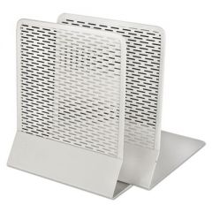 Urban Collection Punched Metal Bookends, 6 1/2 X 6 1/2 X 5 1/2, White