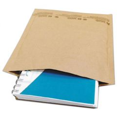 NATURAL SELF-SEAL CUSHIONED MAILER, #2, BARRIER BUBBLE LINING, SELF-ADHESIVE CLOSURE, 8.5 X 12, NATURAL KRAFT, 100/CARTON