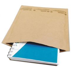 NATURAL SELF-SEAL CUSHIONED MAILER, #5, BARRIER BUBBLE LINING, SELF-ADHESIVE CLOSURE, 10.5 X 16, NATURAL KRAFT, 80/CARTON