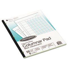 Accounting Pad, Six-Unit Columns, 8-1/2 X 11, 50-Sheet Pad
