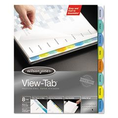 VIEW-TAB PAPER INDEX DIVIDERS, 8-TAB, 11 X 8.5, WHITE, 1 SET