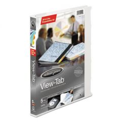 "VIEW-TAB PRESENTATION ROUND RING VIEW BINDER WITH TABS, 3 RINGS, 0.63"" CAPACITY, 11 X 8.5, WHITE"