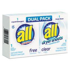 Free Clear He Liquid Laundry Detergent/dryer Sheet Dual Vend Pack, 100/ctn