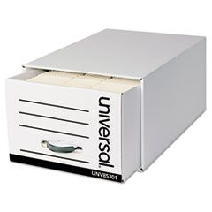 "HEAVY-DUTY STORAGE DRAWERS, LEGAL FILES, 17.25"" X 25.5"" X 11.5"", WHITE, 6/CARTON"