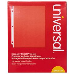 Top-Load Poly Sheet Protectors, Economy, Letter, 100/box